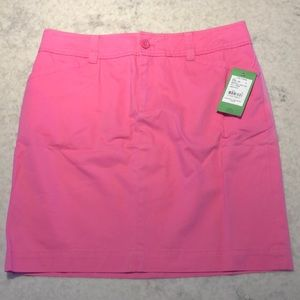 🌸New Lilly Pulitzer Snappy Skirt Hibiscus Pink 4